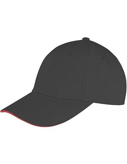 RH91 Result Headwear Memphis Brushed Cotton Low Profile Sandwich Peak Cap